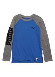 PUMA Long Sleeve Flocked Graphic T-Shirt (Toddler Boys & Little Boys)