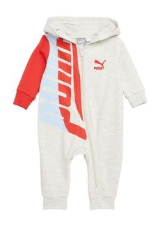 PUMA Loud Logo Graphic Hooded Romper (Baby)