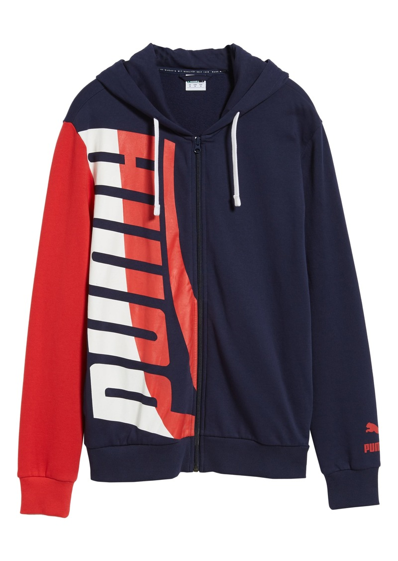 Herren PUMA Mens Loud Pack Full Zip Hoodie