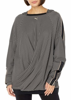 PUMA Making The Cut Hooded Pullover Sweater Black-Castlerock 4XL