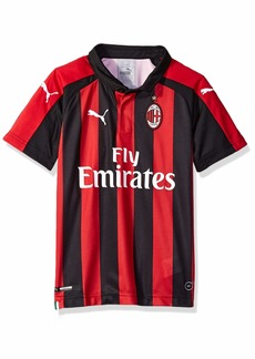 PUMA Men's AC Milan Home Shirt Replica SS Kids Sponsor Logo Tango Red Black XL