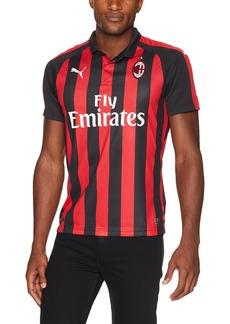 PUMA Men's AC Milan Home Shirt Replica SS with Sponsor Logo Tango red Black XL
