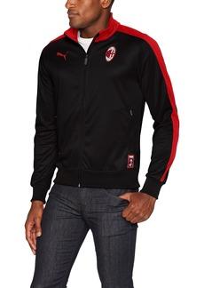 PUMA Men's AC Milan T7 Track Jacket Black/Tango red XL