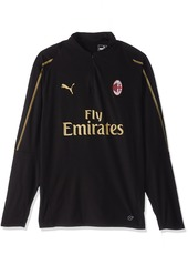 PUMA Men's AC MILAN1/4 Top with Zipped Pockets Black/Victory S