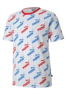 Puma Men's Amplified Logo-Print T-Shirt