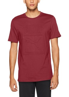 PUMA Men's Archive Embossed Logo T-Shirt  XL