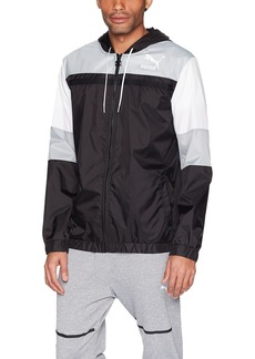 PUMA Men's Archive Logo Windbreaker Black L