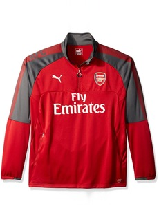 PUMA Men's Arsenal FC 1/4 Training Top With Sponsor
