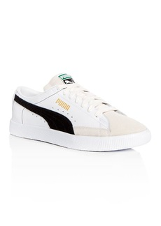 PUMA Men's Basket Leather & Suede Lace Up Sneakers