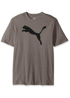 PUMA Men's Big Cat Graphic T-Shirt Medium Gray Heather Black
