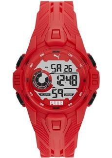 Puma Men's Bold Red Silicone Strap Watch 45mm