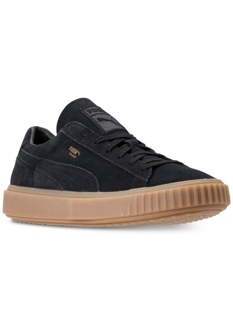 475fd214bba Puma Puma Men s Breaker Suede Gum Casual Sneakers from Finish Line ...