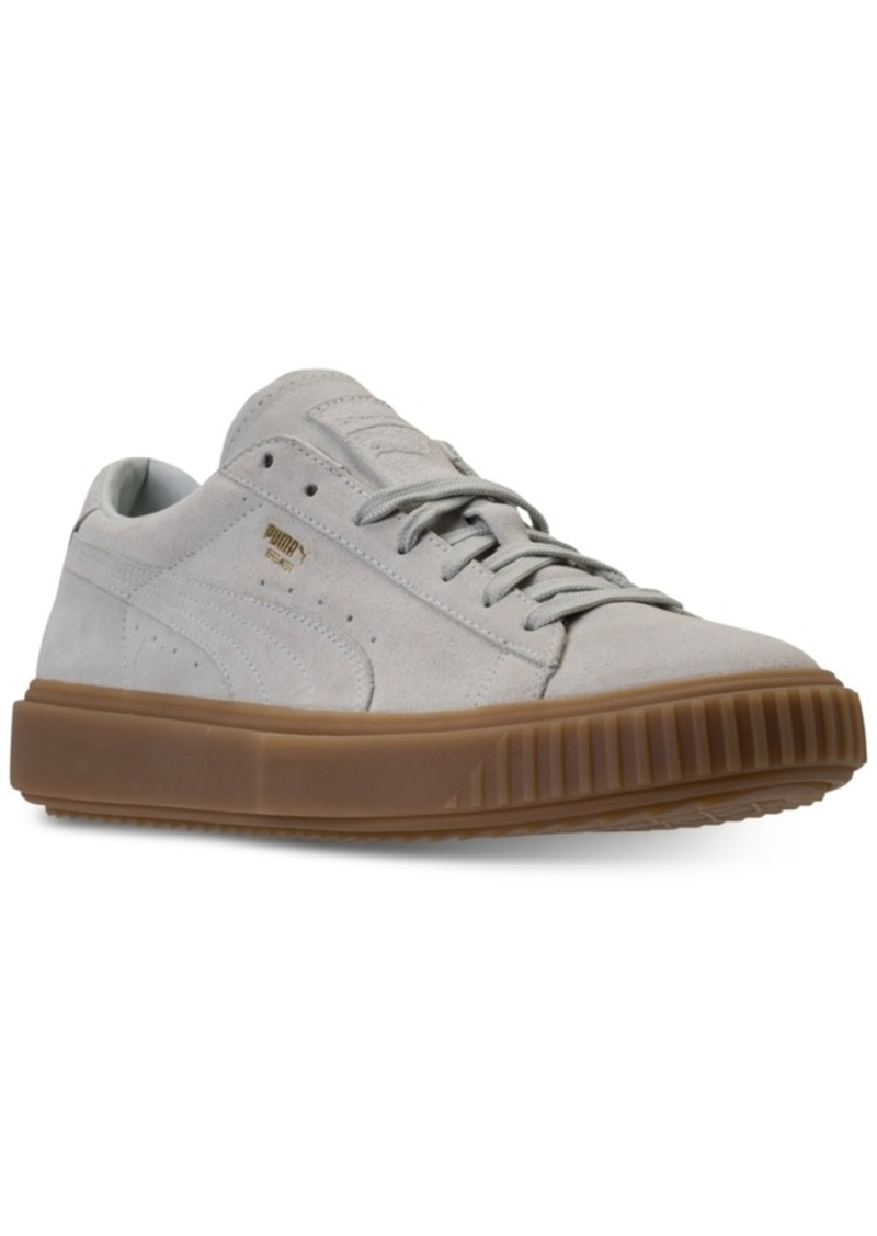 bfa5c3b623b Puma Puma Men s Breaker Suede Gum Casual Sneakers from Finish Line