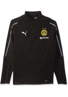 PUMA Men's BVB 1/4 Training TOP with Sponsor Logo F Black XL