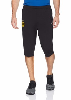 PUMA Men's BVB 3/4 Training Pants Without Pockets F Black M