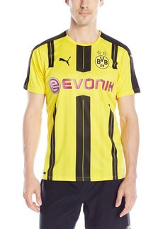 PUMA Men's BVB Home Replica Shirt With Sponsor Logo