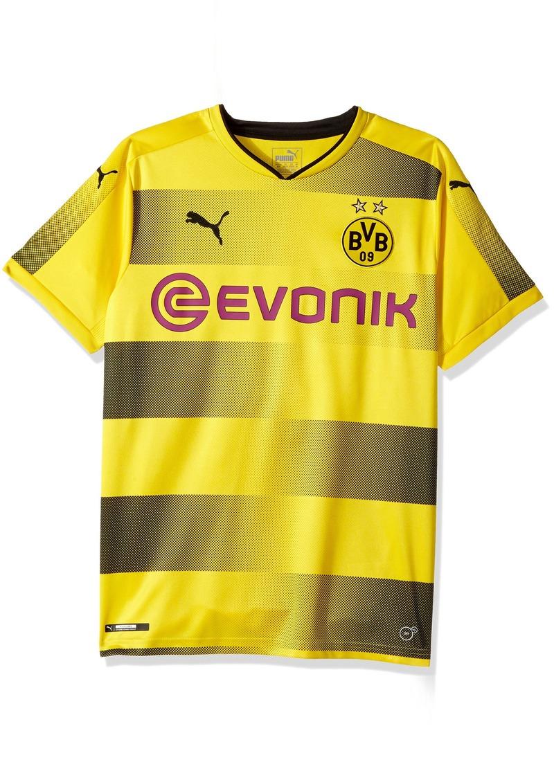 e2fe93570db4 PUMA Men s BVB Home Replica Shirt with Sponsor Logo Cyber Yellow Black