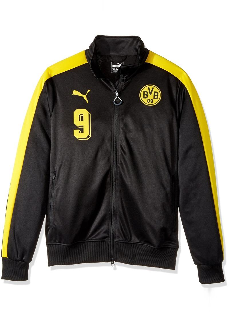 f7fdd5cbc5b2 On Sale today! Puma PUMA Men s BVB T7 Jacket Black Cyber Yellow X-Large