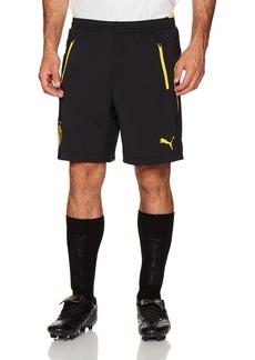 PUMA Men's BVB Training Shorts Black/Cyber Yellow