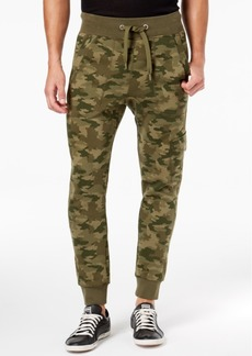 Puma Men's Camo-Print Fleece Cargo Pants