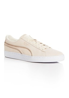 PUMA Men's Classic Exposed Seams Suede Lace Up Sneakers
