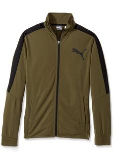 PUMA Men's Contrast Jacket Olive Night Black