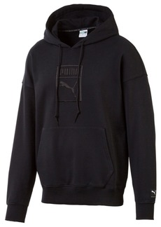 Puma Men's Downtown Relaxed Logo Hoodie