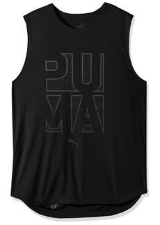 PUMA Men's Energy Sleeveless T-Shirt Black