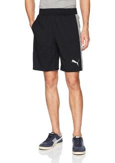 PUMA Men's Essential Dri-Release Shorts Black Medium Gray Heather XXL