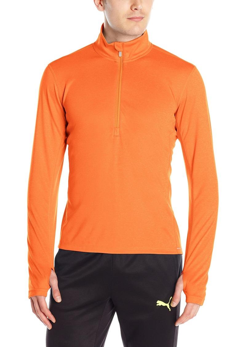 ae7edbd1a Puma PUMA Men's Essentials Running Long Sleeve Half Zip Tee Black ...