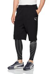 PUMA Men's Evo Tights 2 in 1 Grid Black