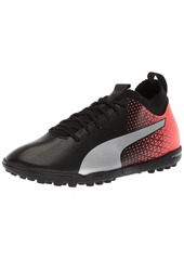 PUMA Men's Evoknit FTB TT Soccer Shoe Black Silver-Red Blast