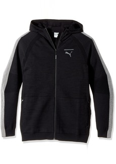 PUMA Men's Evoknit Move Full Zip Hoodie Black