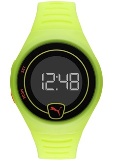 Puma Men's Faster Yellow Silicone Strap Watch 42mm