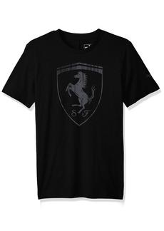 PUMA Men's Ferrari Big Shield T-Shirt Black L
