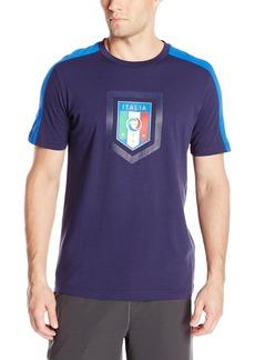 Puma Men's Figc Italia Fanwear Badge Tee Peacoat Team/Power