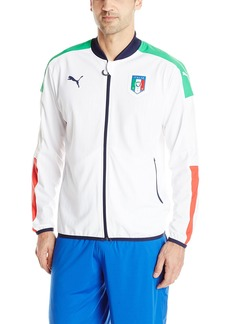 PUMA Men's FIGC Italia Stadium Jacket White Peacoat