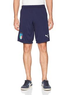 PUMA Men's FIGC Italia Training Shorts Zipped Pockets  L