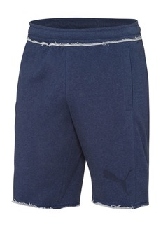 Puma Men's Fleece Distressed Bermuda Knit Shorts