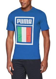 PUMA Men's Forever Football Country T-Shirt Team Power Blue-(FIGC) M