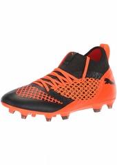 PUMA Men's Future 2.3 Netfit FG/AG Soccer Shoe Black-Shocking Orange