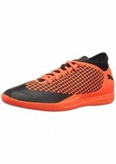 PUMA Men's Future 2.4 IT Soccer Shoe Black-Shocking Orange