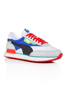 PUMA Men's Future Rider Ride On Mixed-Media Low-Top Sneakers