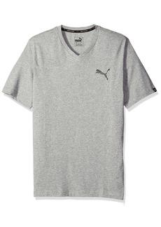 PUMA Men's Iconic V-Neck T-Shirt  Gray Heather M