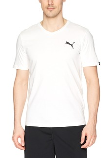 PUMA Men's Iconic V-Neck Tee White L