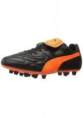 PUMA Men's King TOP M.I.I FG Soccer Shoe Black/Fluo Orange/Gold