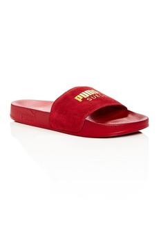 PUMA Men's Leadcat Suede Slide Sandals