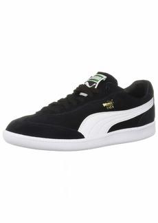 PUMA Men's LIGA Suede Sneaker Black White