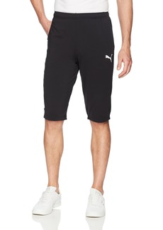 PUMA Men's Liga Training 3/4 Pants Black White XXL