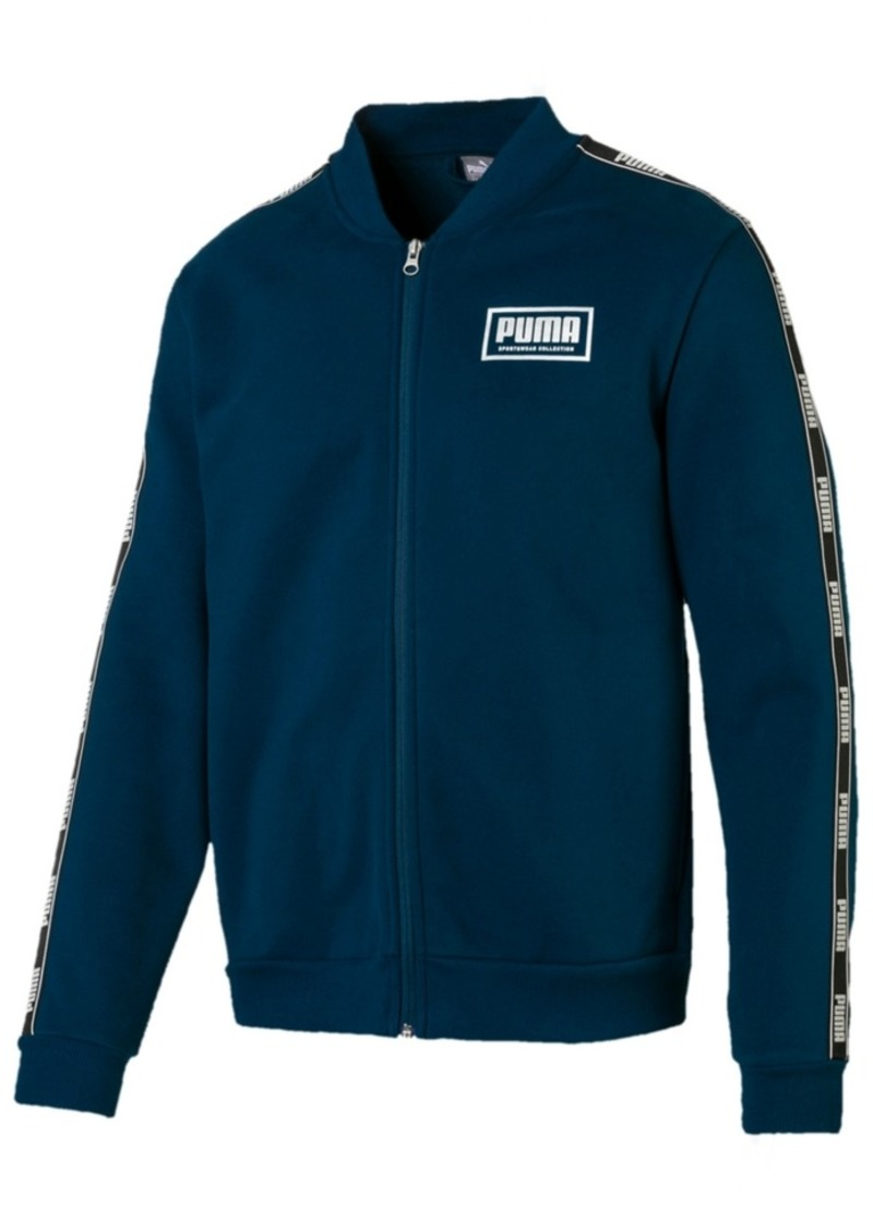 Puma Men's Logo Fleece Bomber Jacket